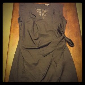 All black dress with a side bow. Size L.